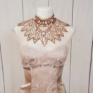 Bebe Blouse Tank Top NEW Sequins Rhinestones Lace